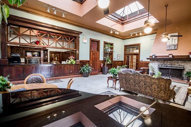 Hotel breakfast area from entrance